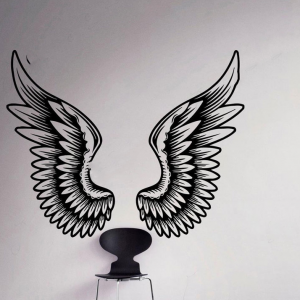 Sticker mural ange